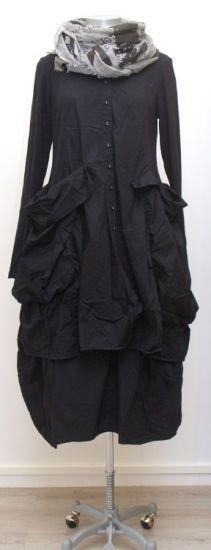rundholz black label - Ballontunika Taschen Stoff Mix black - Winter 2015 - stilecht - mode für frauen mit format...