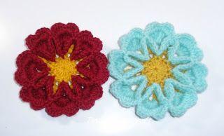 Tina's handicraft : 3D crochet flower