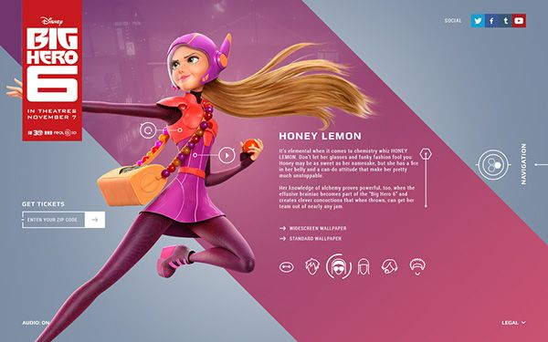 Big Hero 6 website design