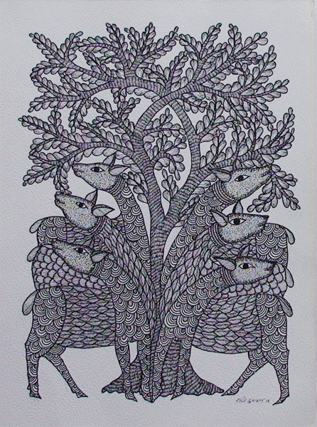 TOL-RS-05 by Rajendra Shyam Size: 35x27.5cms @ Rs. 6000/-