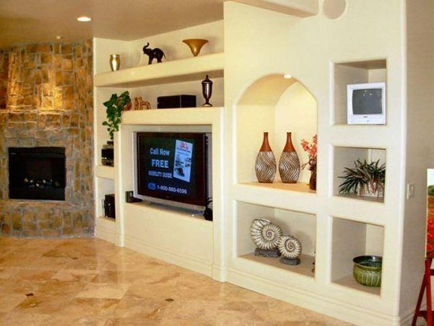 14 Breathtaking Gypsum Board And Niches For TV Wall Unit  For the Home  Living room wall units