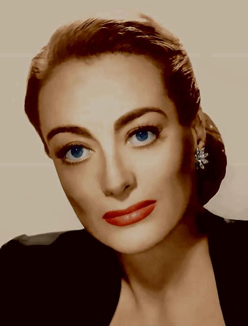 This Joan photo inspired Faye Dunnaway's make up for her 1981 movie Mommie Dearest!