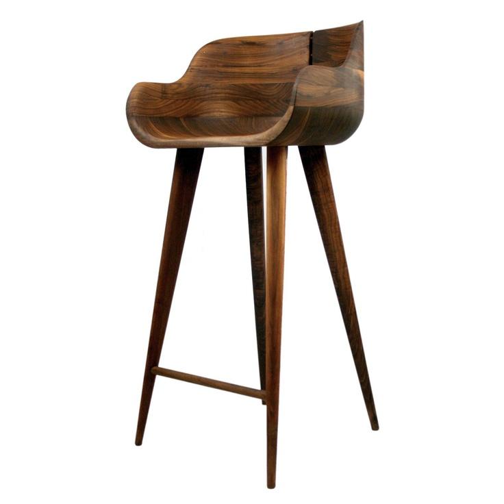 Solid wood breakfast bar stool