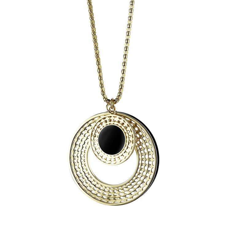 Oxettissimo Black Necklace - Available here http://www.oxette.gr/kosmimata/kolie/stainless-steel-rosegold-plated-blk-neckla-oxette679l-1/   #oxette #OXETTEnecklace #jewellery