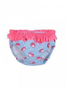 Mutandina adatta ad essere indossata anche con il pannolino da bagno. Foderata in morbido cotone. Elastico in vita e attorno alla coscia per contenere eventuali [...]
