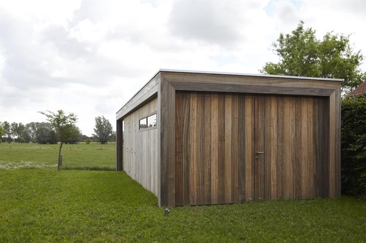 64 best images about bouwen on pinterest for Detached garage with carport