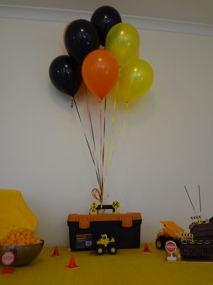 I used a tool kit as a base for the helium balloons ($8 from Bunnings warehouse)