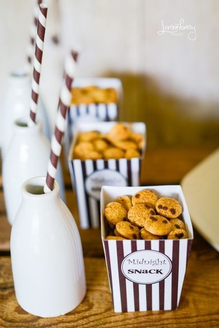 Milk and Cookies…these were made for a kid's birthday, but could be cute weddi…