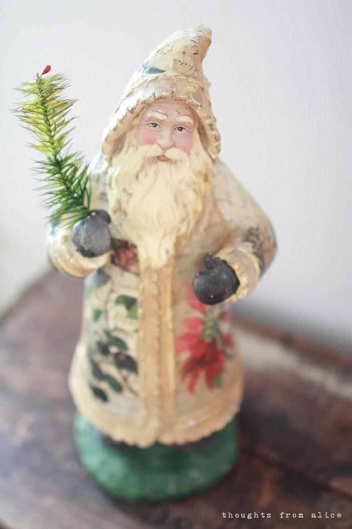 Vintage style Pere Noel Santa Figure