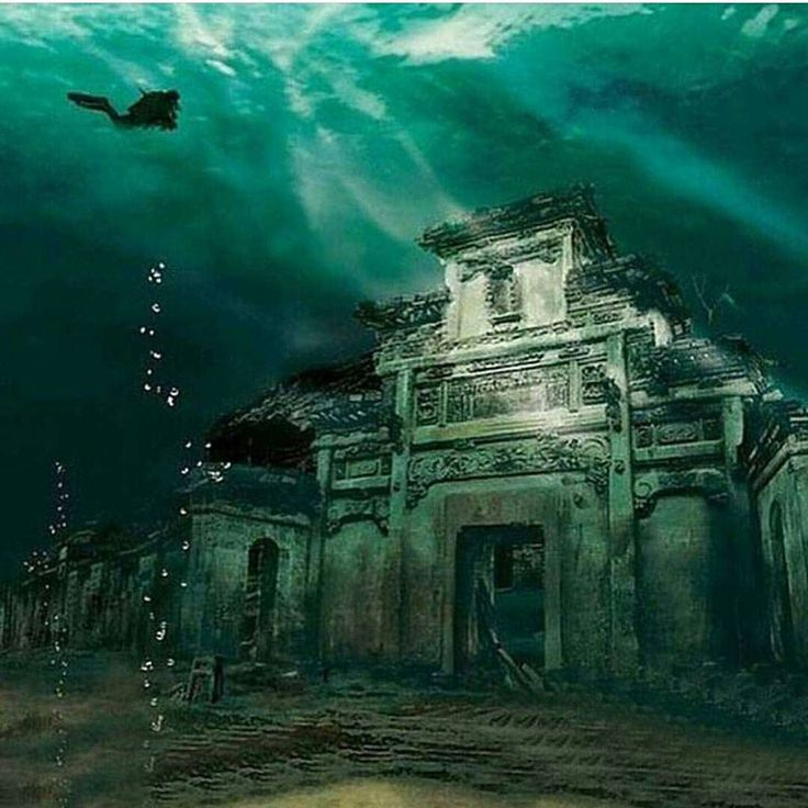 """destination.earth: """"Follow @discoverocean to see more incredible underwater ocean photography! @discoverocean """"Underwater City - Shicheng China. Photo by :  Chinese National Geography"""""""