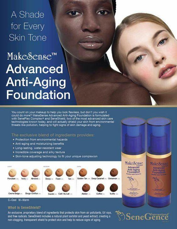 SeneGence Makesense foundation has every skin tone covered!