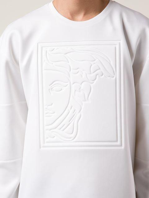 Versace Collection Embossed Medusa Sweatshirt - Profile - Farfetch.com