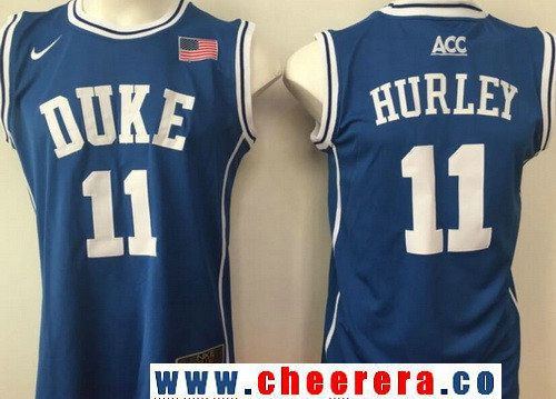 Men's Duke Blue Devils #11 Bobby Hurley Royal Blue Round Collar College Basketball Stitched Nike Swingman Jersey