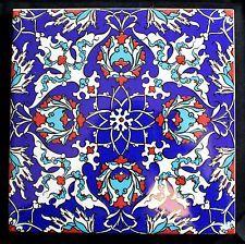 Turkish Ceramic Trivet Tile Traditional Iznik Design Tea Pot Hot Plate 15x15 Cm