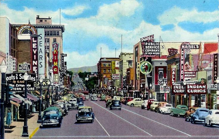 Downtown Albuquerque, 1950's