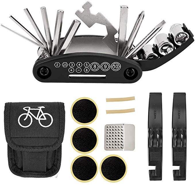 Nspring Bicycle Repair Tool Kit 16 In 1 Multifunction Bike Fix