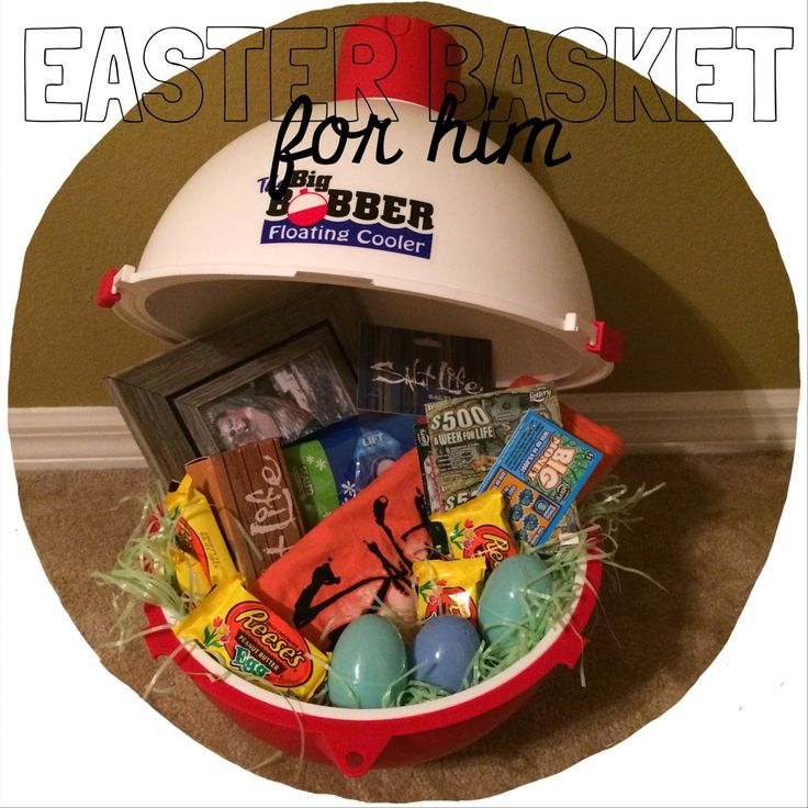 Easter Basket for Him, Man Basket, Fishing Easter Basket