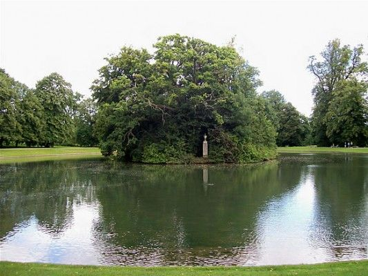 Princess Diana of England was buried at the Spencer-family estate, Althorp, in North Hampshire in 1997. Now she appears to be the Lady of the Lake as her remains reside on Round Oval island, a small island (populated with four black swans) on the family property