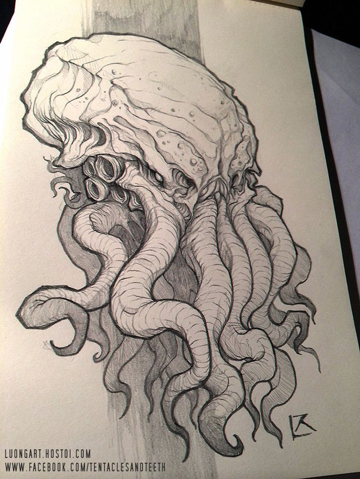 Image result for cthulhu statue  tattoo design