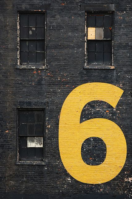 Industrial Warehouse | 6 | Numbers | Typography | Vintage Look | Trend | Reclaimed | Original | Love This | Yellow | Black | Warehouse Home Design Magazine