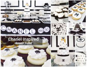 chanel-inspired-dessert-candy-buffet-black-and-white-cupcakes-cake
