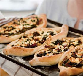 LEBANESE RECIPES: Pide with feta & spinach recipe