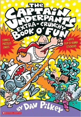 Fans of the Captain Underpants series will have tons o fun with this activity book featuring George, Harold, Captain Underpants and the bad guys from the first four books. Readers can test their knowledge with puzzles, games, cool comics, drawing tips, trivia, and more! They can also create their own comic strips, just like Dav Pilkey does. And of course there are plenty of cheesy jokes, guaranteeing lots-o-laffs!