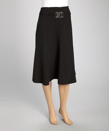 This Black Embellished Trumpet Skirt - Women & Plus by Wall Street is perfect! #zulilyfinds