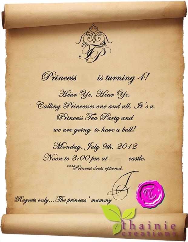 Simple invitations.
