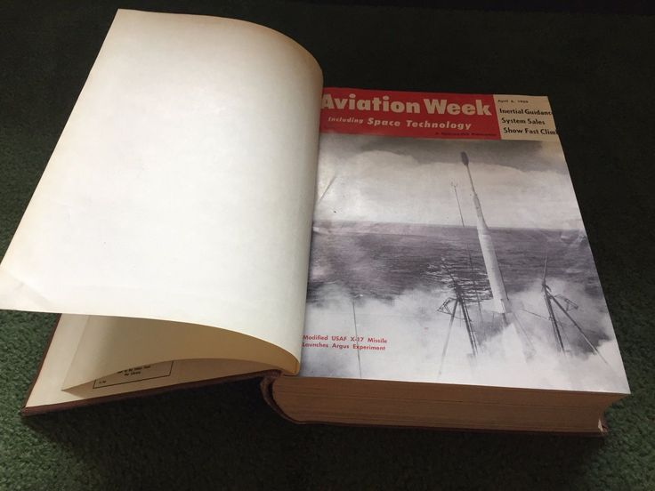 Aviation Week 70 Part 2 April-june 1959 Glendale Library Hard Cover Book