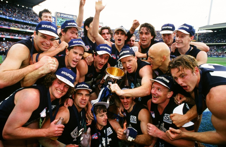 1995 Grand Final: Carlton 21.15.141 def Geelong 11.14.80.