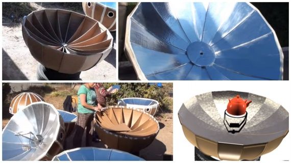 Планета Земля и Человек: Параболическая солнечная печка из картона (+Видео)...