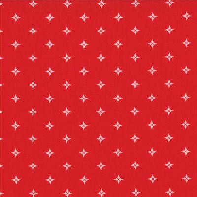 Winter Wonderland - Starlight in Redwork (2879 18) // Juberry Fabrics