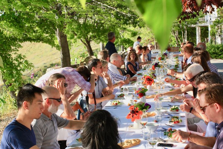 Long table love | from the blog of naramata-blend.com by Elaine Davidson