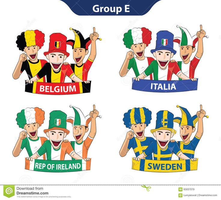 Euro 2016 Der Gruppen-E Vektor Abbildung - Bild: 65637019