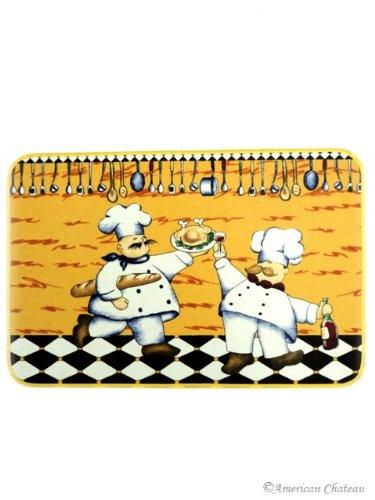 Fat French Chef Decor Kitchen Mat Rug Carpet