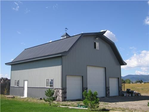 Barn living pole quarter with metal buildings mid size for Two story metal building