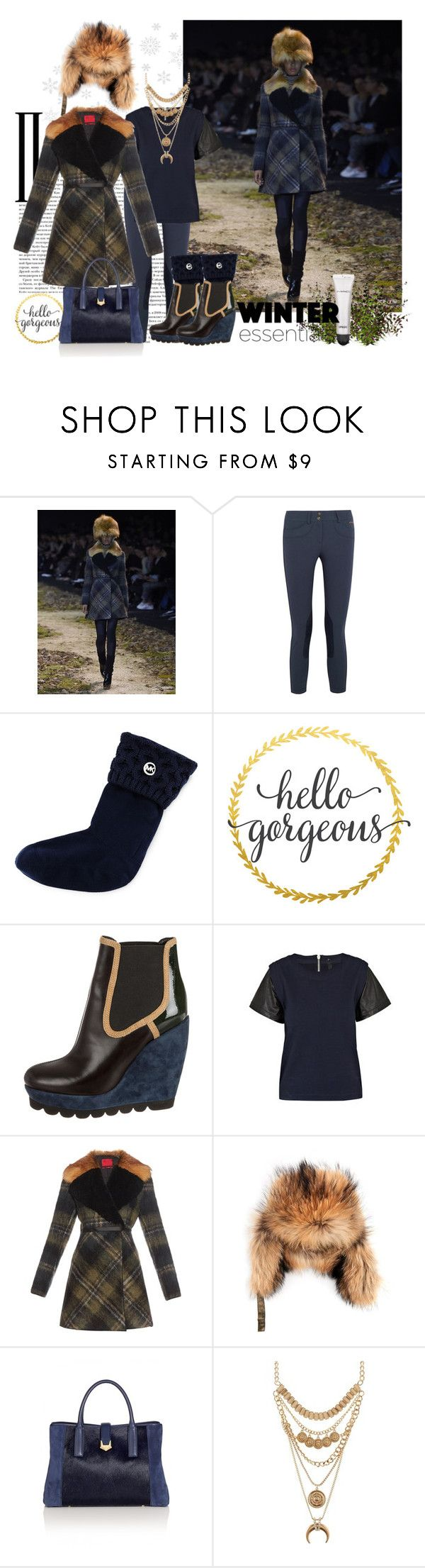"""""""Winter Essentials"""" by hellogorgeous1-gc ❤ liked on Polyvore featuring Moncler Gamme Rouge, Ariat, MICHAEL Michael Kors, WALL, Kenzo, I'm Isola Marras, Yves Salomon, Charlotte Russe, MAC Cosmetics and kenzo"""