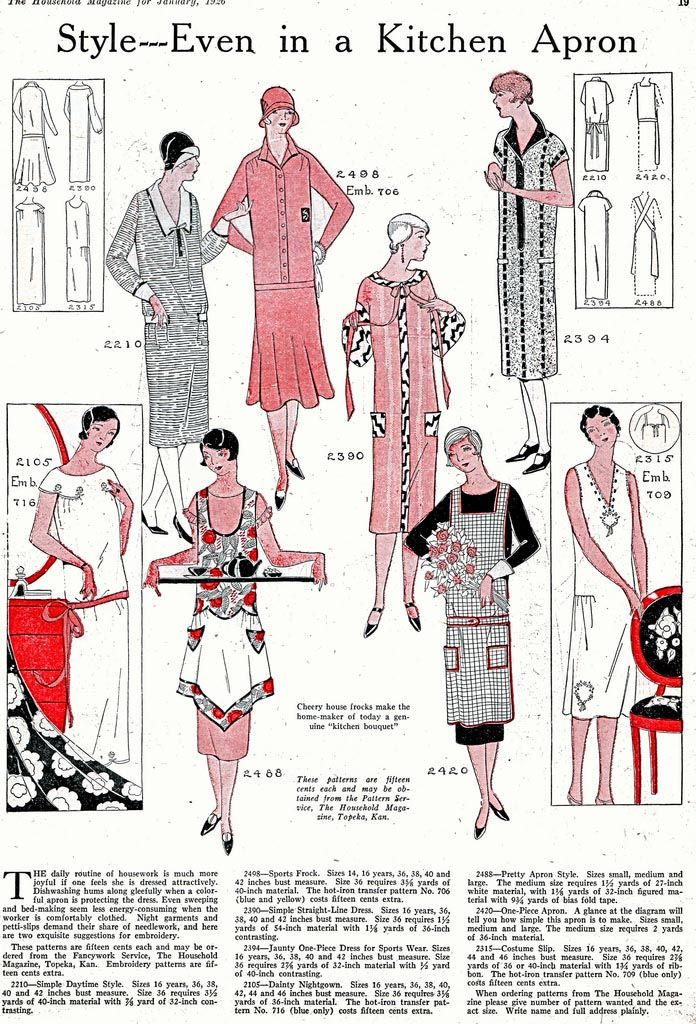 What the well-dressed Dahlia wore in her kitchen in 1933.