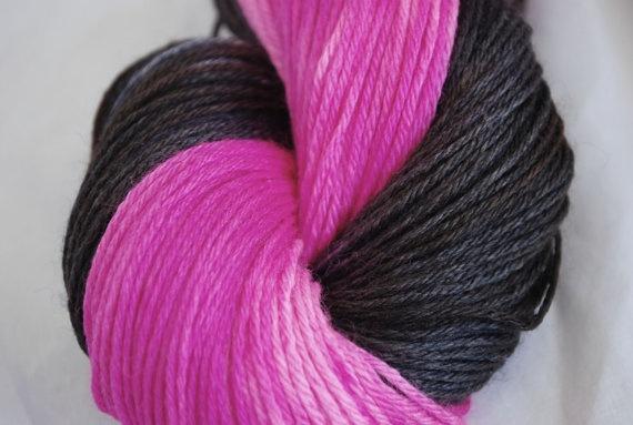 Hand painted Silk sock yarn  Pink Pepper by GeckoYarns on Etsy, $22.00: Socks Yarns, Silk Socks