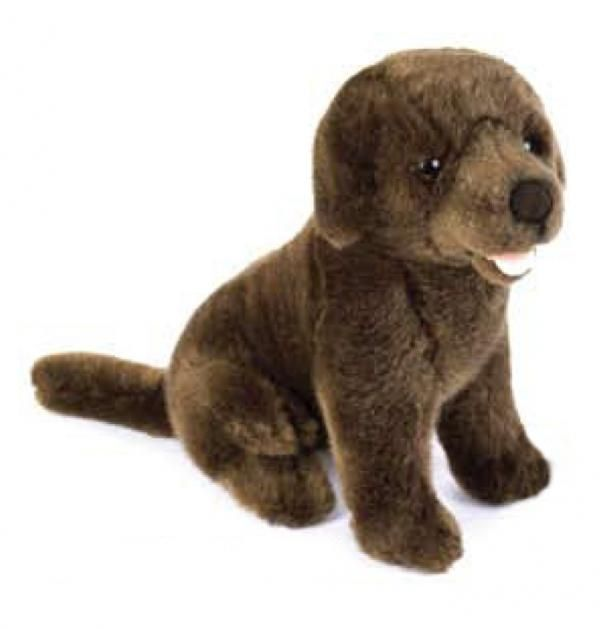 Chocolate Lab Lacey Plush Toy