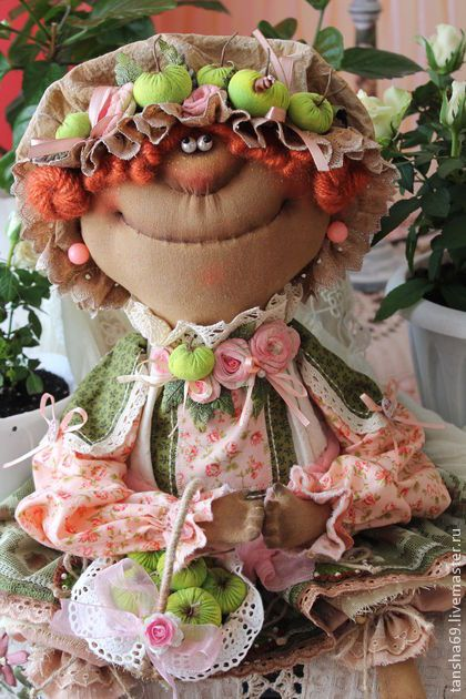 Яблочки зилененькие! - примитив,примитивная кукла,примитивы,текстильная кукла