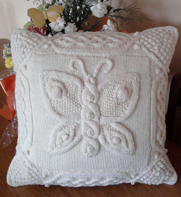 Ravelry: annemariep's Celtic butterfly pillow 2