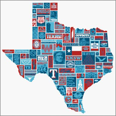 "I really want this poster... it's rad. ""totally texas poster"" by: Draplin Design Co."