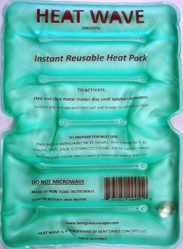 Instant Reusable Heat Pack : Heat wave ii instant reusable pack large