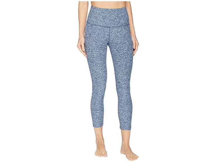 Beyond Yoga Spacedye High-Waisted Capri Leggings (White/Outlaw Navy) Women's Casual Pants. Walk into the studio with the sleek  high-performance Beyon…