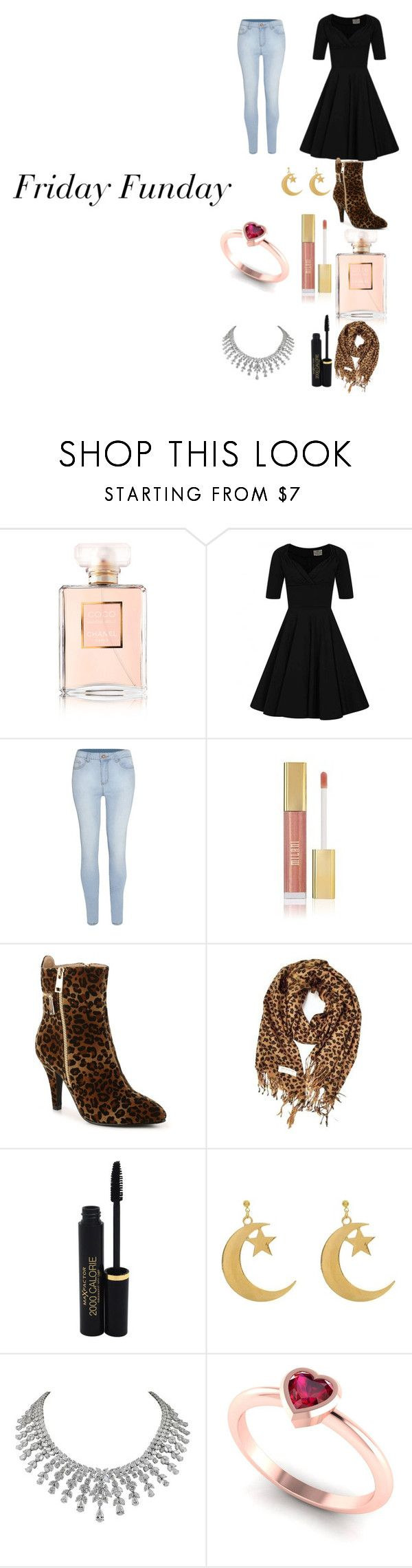 """Friday Funday"" by katiephan on Polyvore featuring Chanel, Collectif, Maybelline, Bellini, Max Factor, friday and november2017"