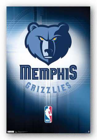 "Memphis Grizzlies - Logo - NBA 22""x34"" Art Print Poster - http://hoopsternation.com/memphis-grizzlies-logo-nba-22x34-art-print-poster/"
