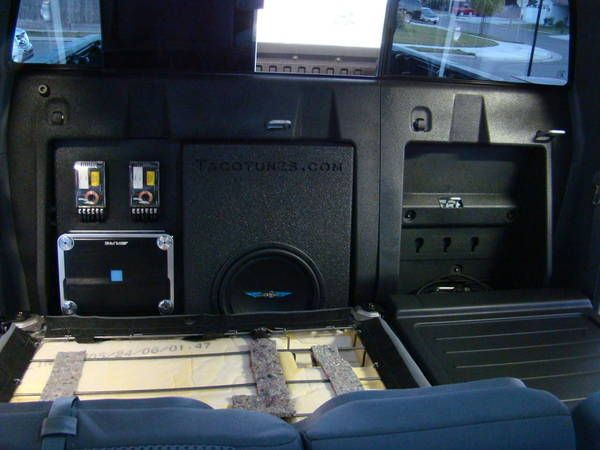 TacoTunes.com subwoofer enclosure - Tacoma World - Toyota double cab (crew) dbl behind back seat sub / amp