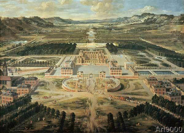 Pierre Patel - Versailles, Palace / Paint.Patel / 1668